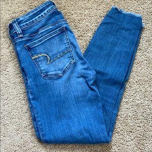 American eagle crop jeans size 2